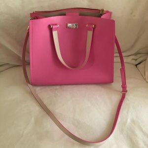 Bubble gum pink kate spade purse